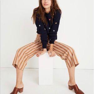 NWT's Madewell Tall Emmett Wide-Leg Crop Pants